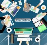 Geschäftstreffen und Brainstorming Flaches Design Lizenzfreie Stockfotos