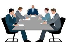 Geschäftstreffen- und Geschäftskonferenzkonzept lizenzfreie abbildung