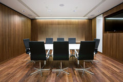 Geschäftstreffenraum im Büro Stockfoto