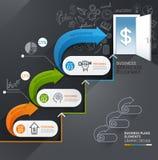 Geschäftstreppenhaus-Eingang Begriffs-infographics vektor abbildung