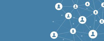 Geschäftsverbindung auf Konzept des Sozialen Netzes vektor abbildung