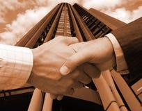 Geschäftsvereinbarung in den US Stockfotografie