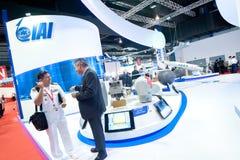 Geschäftsvereinbarungen im Singapur Airshow 2014 Lizenzfreies Stockfoto