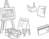 Geschäftsverkehreinkaufen stock abbildung