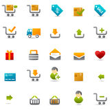 Geschäftsverkehrweb-Ikone Stockbild