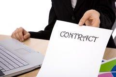 Geschäftsvertrag lizenzfreies stockbild