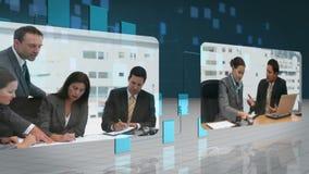 Geschäftsvideos, die über Netz fließen stock video footage