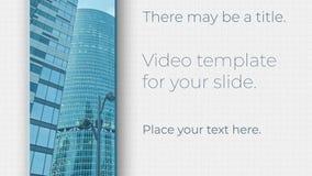 Geschäftsvideoschablone für Ihr Dia stock video