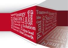 Geschäftswörter auf der Wand Stockbild