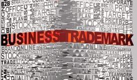 Geschäftswörter standen mit Wort eingetragenem Warenzeichen in Verbindung Stockfoto