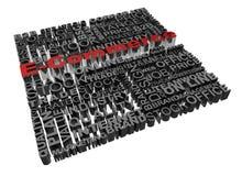Geschäftswörter standen mit Wort elektronischem Geschäftsverkehr in Verbindung Stockbilder