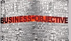 Geschäftswörter standen mit Wort Lernziel in Verbindung Stockfotos