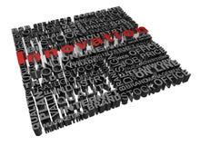Geschäftswörter in Verbindung gestanden mit Wort Innovation Stockbilder