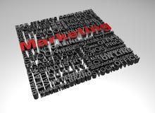 Geschäftswörter in Verbindung gestanden mit Wort Marketing Lizenzfreies Stockfoto