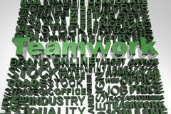 Geschäftswörter in Verbindung gestanden mit Wort Teamwork Lizenzfreie Stockfotografie