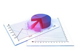 Geschäftswachstum chart lizenzfreie abbildung