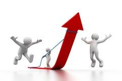 Geschäftswachstum unter Steuerung lizenzfreie abbildung