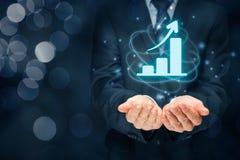 Geschäftswachstumsanalyse Stockfotografie