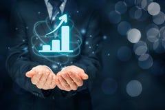 Geschäftswachstumsanalyse Lizenzfreies Stockfoto