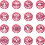 Geschäftsweb-Ikonenset Stockbild
