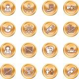 Geschäftsweb-Ikonenset Lizenzfreies Stockfoto