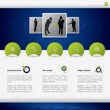 Geschäftswebsite-Schablonenauslegung Lizenzfreie Stockfotografie