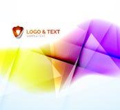 Geschäftswelle, -PURPUR und -orange lizenzfreie abbildung
