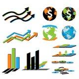 Geschäftswirtschaft und Finanzierungsymbol Lizenzfreies Stockfoto