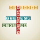Geschäftswort Stockfoto