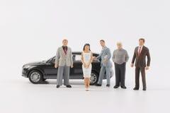 Geschäftszahl bei der Sitzung mit Auto Lizenzfreies Stockbild
