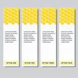 Geschäftszahlfahnen Schablone des modernen Designs des Bienenstocks oder Websiteplan Information-Grafiken Vektor Stockfoto