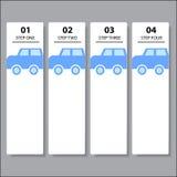 Geschäftszahlfahnen Schablone des modernen Designs oder Websiteplan Information-Grafiken Vektor Lizenzfreie Stockfotos