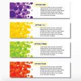 Geschäftszahlfahnen Schablone des modernen Designs oder Websiteplan Information-Grafiken Vektor Stockbilder