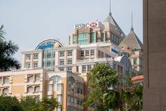 Geschäftszentren in Asien Stockfotografie
