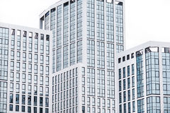 Geschäftszentrum in den neuen Vierteln der Stadt Stockfoto