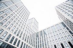 Geschäftszentrum in den neuen Vierteln der Stadt Stockbild
