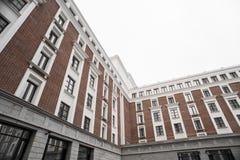 Geschäftszentrum in den neuen Vierteln der Stadt Lizenzfreies Stockfoto