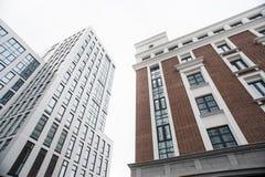 Geschäftszentrum in den neuen Vierteln der Stadt Stockbilder