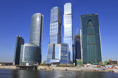 Geschäftszentrum in Moskau, Russland Stockfotografie