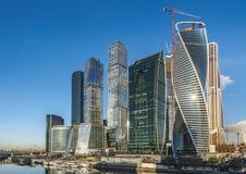 Geschäftszentrum Moskau-Stadt Stockfotos