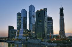 Geschäftszentrum Moskau-Stadt Stockfotografie