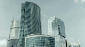 Geschäftszentrum Moskau-Stadt, timelapse mit Direktübertragung stock video