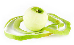 Geschälter Apfel Lizenzfreie Stockfotografie