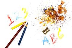 Geschärfte Bleistifte Stockbild