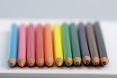 Geschärfte Bleistiftpunkte Stockfoto