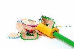 Geschärfter Bleistift und Schärfen Stockbilder