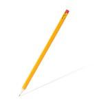 Geschärfter hölzerner Bleistift mit Schatten Stockfotografie
