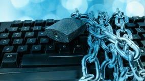 Geschützte Computeron-line-Internetsicherheit stock footage