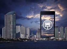 Gesch?ftsreparatur-Auto-on-line-Konzept lizenzfreies stockbild
