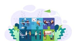 Gesch?ftsteam-Puzzlespielkonzept Teamwork, Zusammenarbeit und Partnerschaft, l?send gedanklich stock abbildung